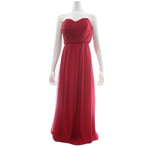 Max and Cleo Red Strapless Maxi Dress